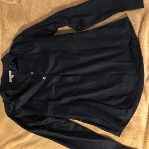 Ladies BR fitted black button down- size 8